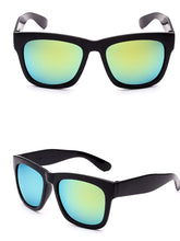 Plain Colorful Reflective Sunglasses