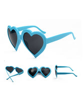 Plain Fashion Personality Love Shaped  Sunglasses