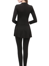 Crew Neck  Color Block Plain One Piece Muslim