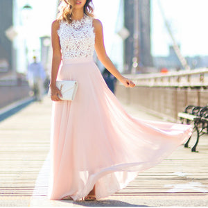Hollow Out Maxi Vacation Dress