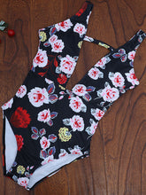 Spaghetti Strap  Floral Printed One Piece