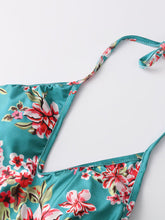 Halter  Floral Printed One Piece