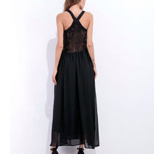 New Strap V-Neck Splicing Maxi Dress