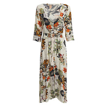 Ethnic Floral Printed V-Neck Maxi Vacation Dress