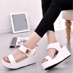 High Heeled  Ankle Strap  Peep Toe  Casual Date Sandals