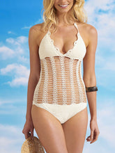 Halter  Crochet  Plain One Piece