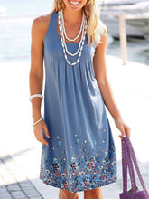 Scoop Neck  Floral Printed Shift Dress