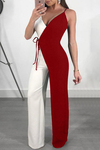 Fashion Sleeveless Wide Leg Jumpsuits