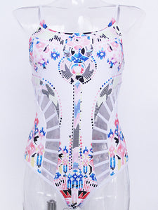 Abstract Print One Piece For Women