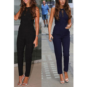 Sexy Fashion Sleeveless Zipper Jumpsuit