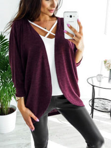Plain  Long Sleeve Cardigans