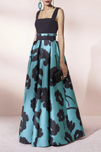 Sexy Floral Condole Belt Tube Evening Dress