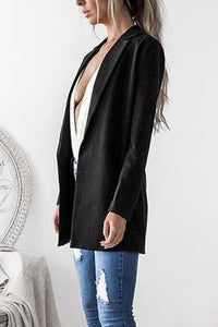 Narrow  Notch Lapel  Plain  Autumn Blazers