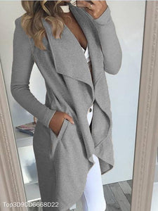 Irregular Cardigan Woolen Coat