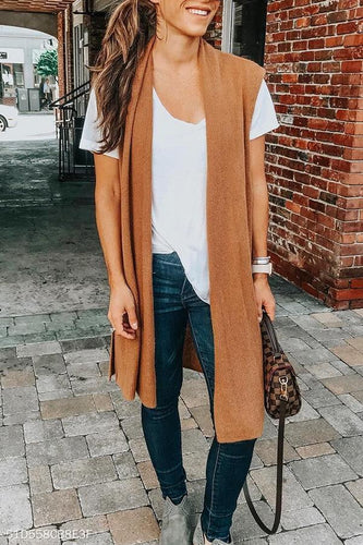 Loose Fitting  Plain  Basic Cardigans