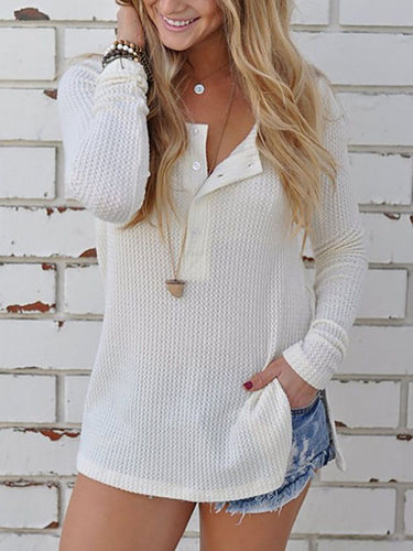 Fold-Over Collar  Cutout Single Breasted Vented  Plain Sweaters