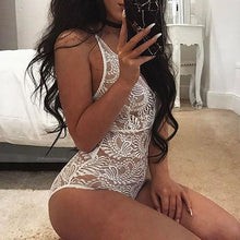 Sexy Lace Halter One Piece Lingerie