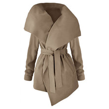 Lapel  Belt  Plain Trench Coats