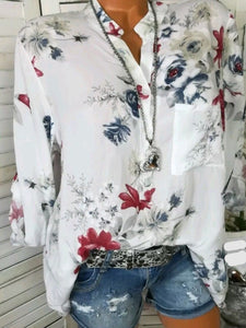 Casual Floral Printed-Shirts
