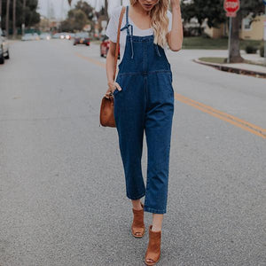 Fashion Suspender Denim Jeans Jumpsuits