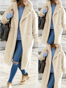 Notch Lapel  Plain Coats