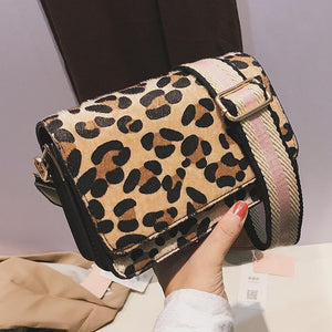Elegant Casual Stylish Rectangle Leopard Print One Shoulder Small Bag
