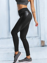 Cutout Patchwork  Leather-Trimmed Quilted  Plain Leggings