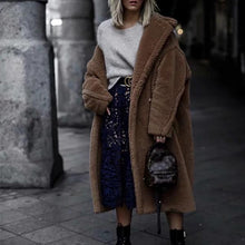 Loose Casual Lapel Thick Coat