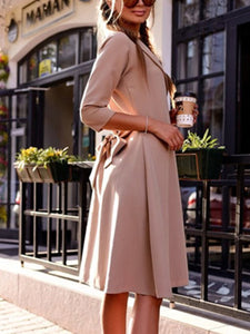 Chic Surplice  Belt  Plain Trench Coats