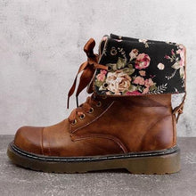 Autumn And   Winter Retro Flat Tinted Martin Boots
