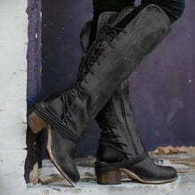 Cross-Lacing Plain Boots