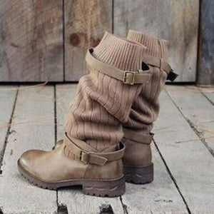 Comfy Cabin Sweater Vintage Boots