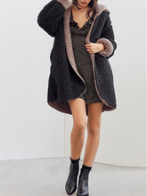 Hooded  Two Way  Plain Coats