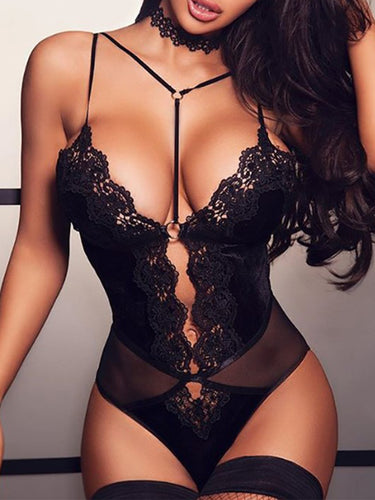 Spaghetti Strap  See-Through  Lace Teddies