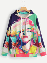 Hooded  Abstract Print Hoodies