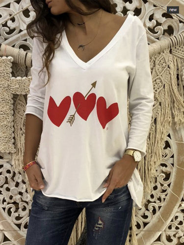 V-Neck  Printed T-Shirts