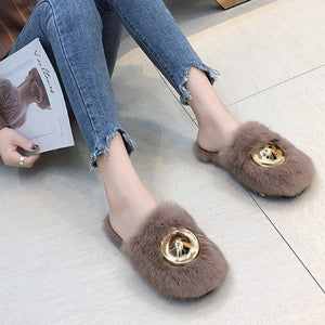 Decorative Hardware Slippers