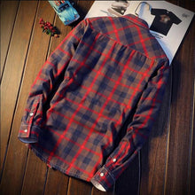 Men's Casual Autumn Winter Spring Thick Warm Fleece Cotton Shirts
