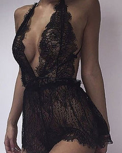 Deep V-Neck  See-Through  Lace Accessories