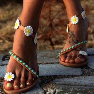 Sweet Flowers Flat Comfortable Beach Sandals