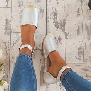 Casual Women Flat Heel Colouring Point Toe Sandals