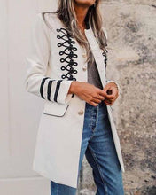 Chic Lapel Strappy Plain Slim Split Joint Sleeve Long Coat