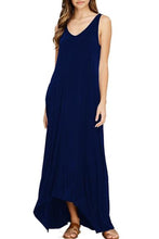 Round Neck  Plain Maxi Dress