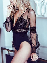 Deep V-Neck  See-Through  Lace Sexy Lingerie