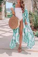 Green Printed Beachwear