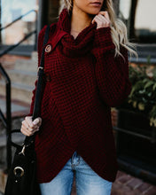 High-Collared Turtleneck Long-Sleeved Sweater