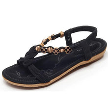 Ethnic Simple Beaded Flat Bottom Bohemian Beach Shoes