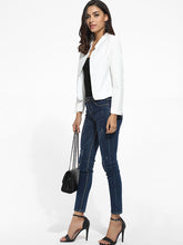 Collarless Dacron Plain Blazers