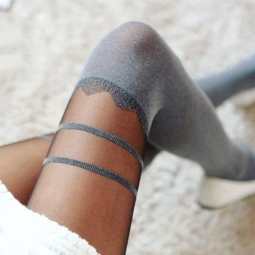 See-Through  Striped Socks