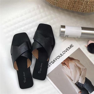 Casual Retro Flat Shoes With Cross Belt